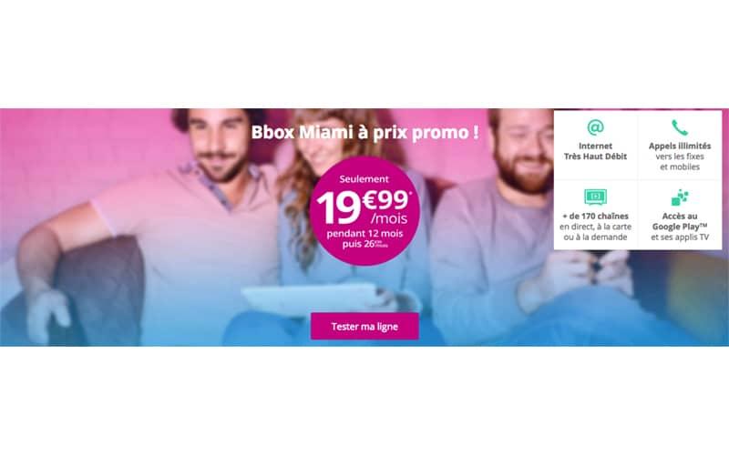 bouygues telecom affiche son offre internet bbox miami 19 99 et lance sa 4g box. Black Bedroom Furniture Sets. Home Design Ideas