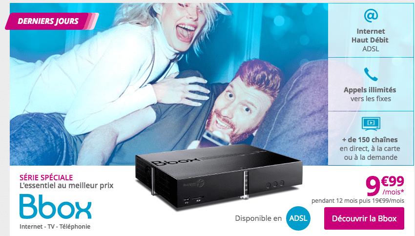 fin offre Bbox à 9,99€/mois