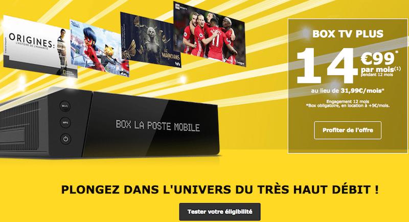 Offre internet Box TV Plus La Poste Mobile