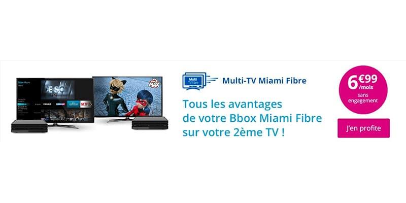 bbox miami bouygues int gre l option multi tv dans son offre fibre. Black Bedroom Furniture Sets. Home Design Ideas