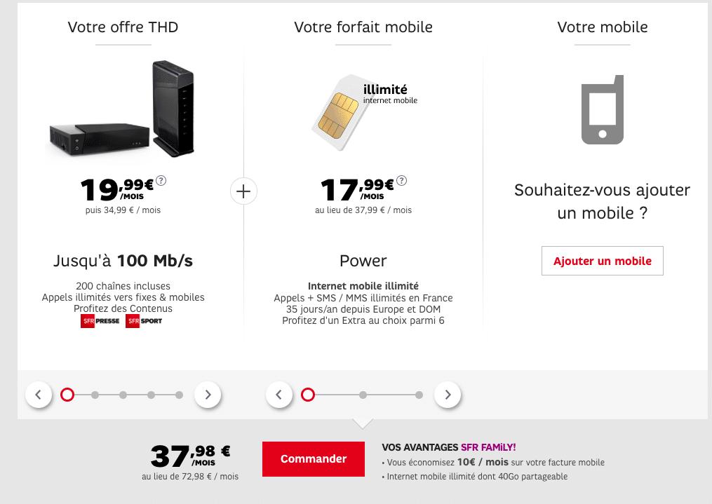 Très Haut Débit fixe + mobile SFR