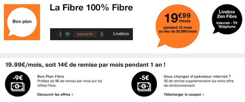 orange l 39 offre zen fibre 19 99 mois prendra fin ce soir. Black Bedroom Furniture Sets. Home Design Ideas