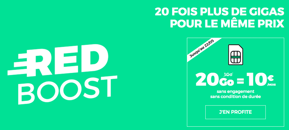 Forfait RED SFR 20 Go