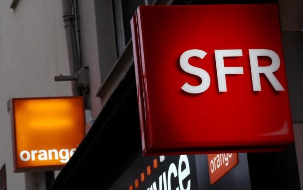 enseignes Orange et SFR