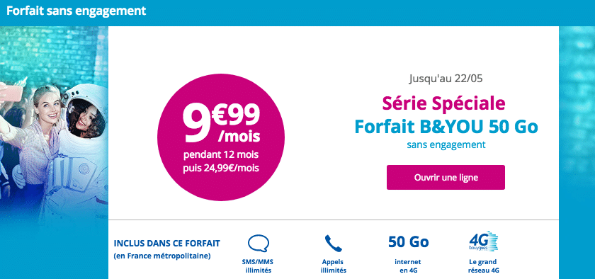 forfait B&You Bouygues