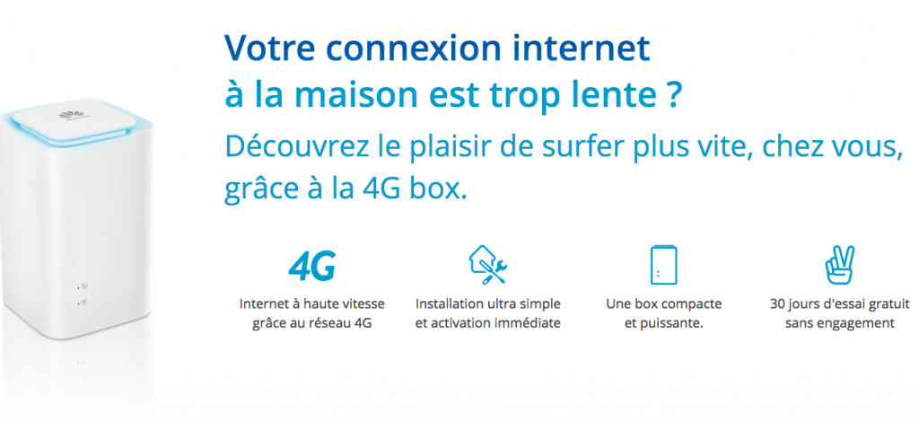 bouygues t l com propose internet avec la 4g box pour 29 90 par mois. Black Bedroom Furniture Sets. Home Design Ideas