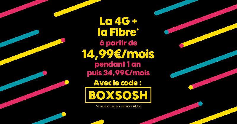 Code promo Sosh box internet