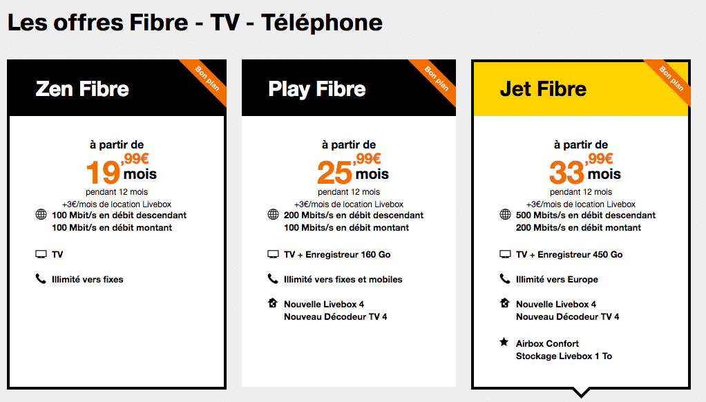 orange les offres internet fibre d s 20 avec 19 euros de remise. Black Bedroom Furniture Sets. Home Design Ideas