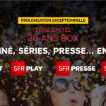 SFR (Altice): une nouvelle fois, la box 30 ans est prolongée jusqu'au 12 juillet