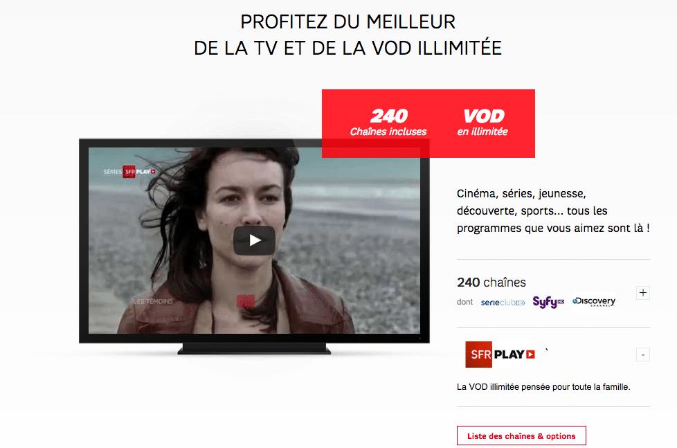 sfr box television
