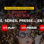 SFR: encore quelques jours pour profiter de la box Internet 30 ans!