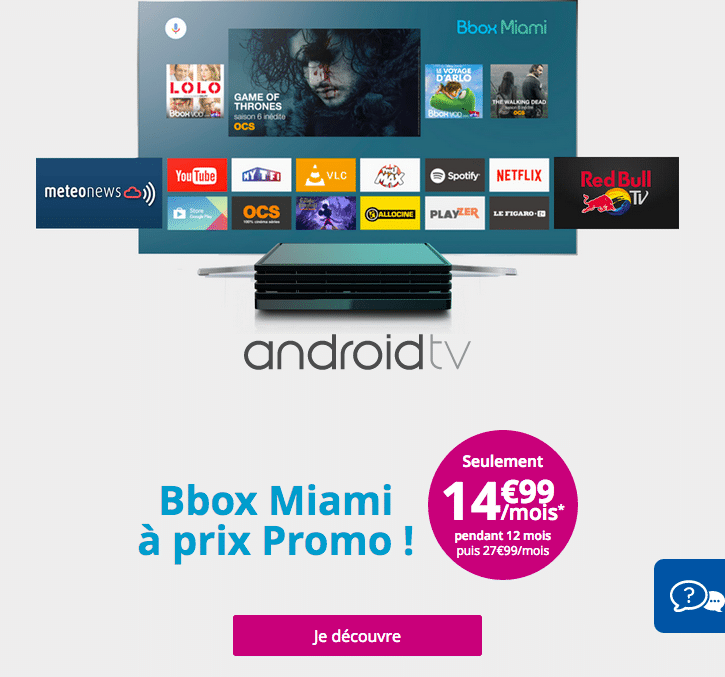 bouygues telecom android tv miami