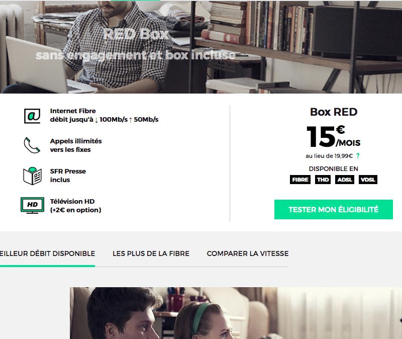 Red by sfr la box internet de nouveau 15 vie jusqu 39 au 21 ao t - Avoir internet sans box ...