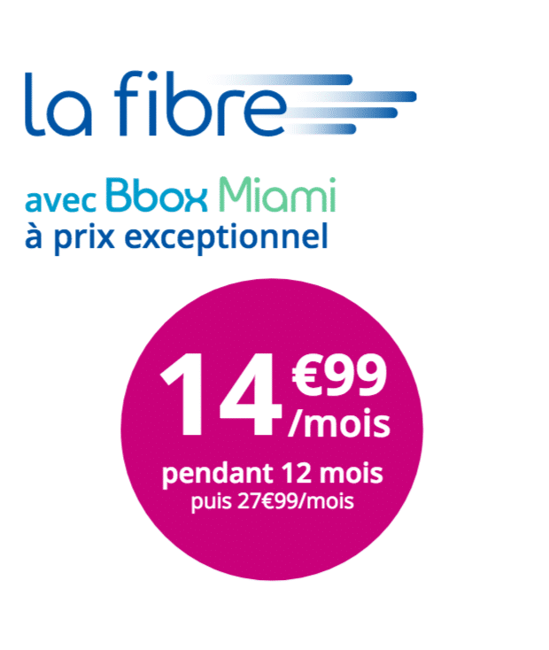 la bbox miami internet fibre moins de 15 chez bouygues t l com. Black Bedroom Furniture Sets. Home Design Ideas