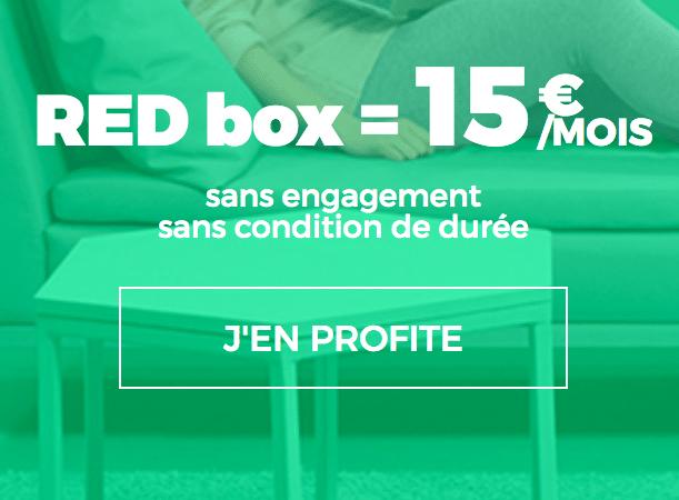 RED box internet 15 euros