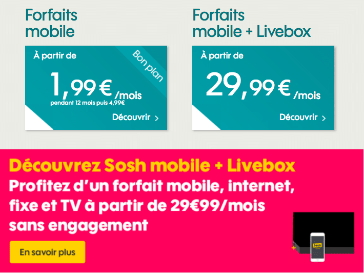 sosh annonce box mobile