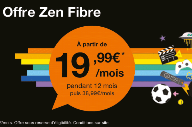 orange affiche toujours 19 99 par mois son offre internet fibre avec sa livebox zen. Black Bedroom Furniture Sets. Home Design Ideas