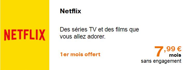 L'offre de Netflix proposée par Orange