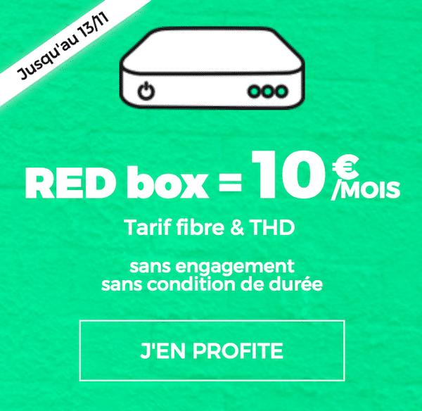 les box internet de red by sfr en promotion avec la red box d s 10. Black Bedroom Furniture Sets. Home Design Ideas