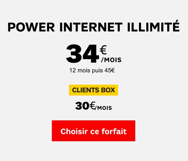 Le forfait 4G illimité de SFR