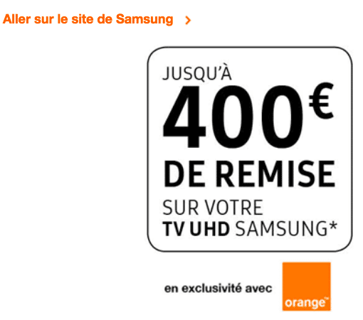 TV Samsung Orange