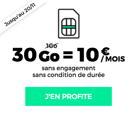 forfait RED 30 Go 10€