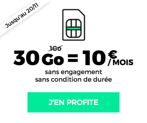 RED by SFR forfait 10€