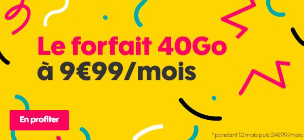 Sosh forfait 40 Go