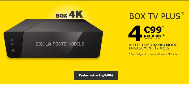 Comparateur Offre Fibre >> La Poste Mobile brade sa Box TV Plus avec l'Internet en ...