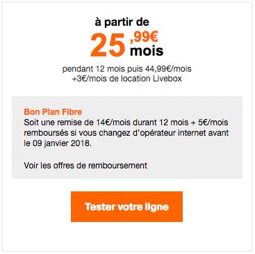La box Play Fibre, un best-seller de Orange.
