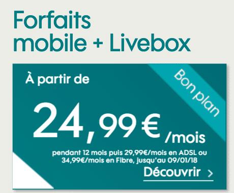 sosh mobile livebox internet