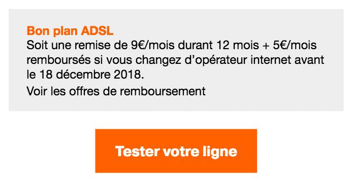 Orange ADSL box internet