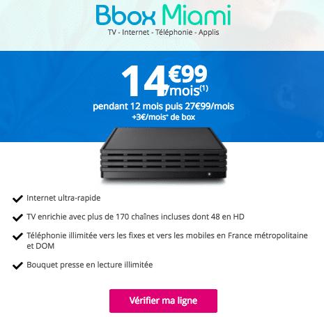 Bbox Miami fibre optique