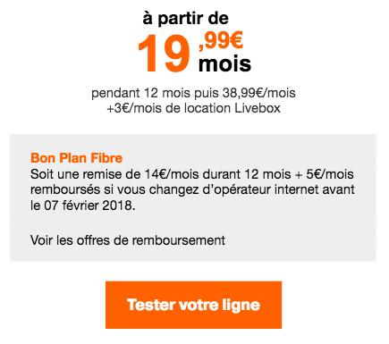 box internet Orange promo