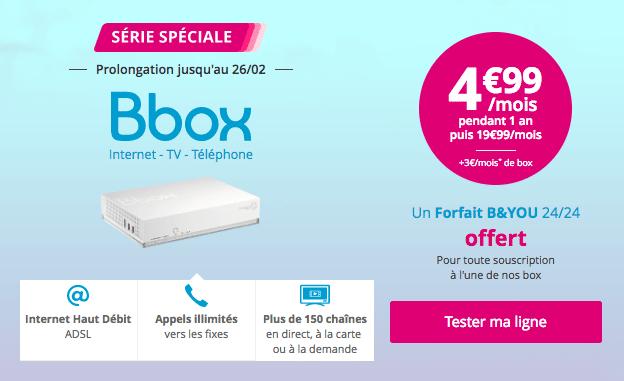 Bbox adsl promotion