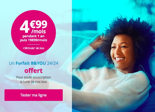 Description de l'offre Bbox ADSL de Bouygues Télécom.