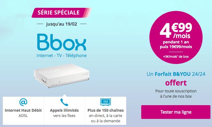 bouygues t l com propose son offre internet bbox adsl 4 99. Black Bedroom Furniture Sets. Home Design Ideas