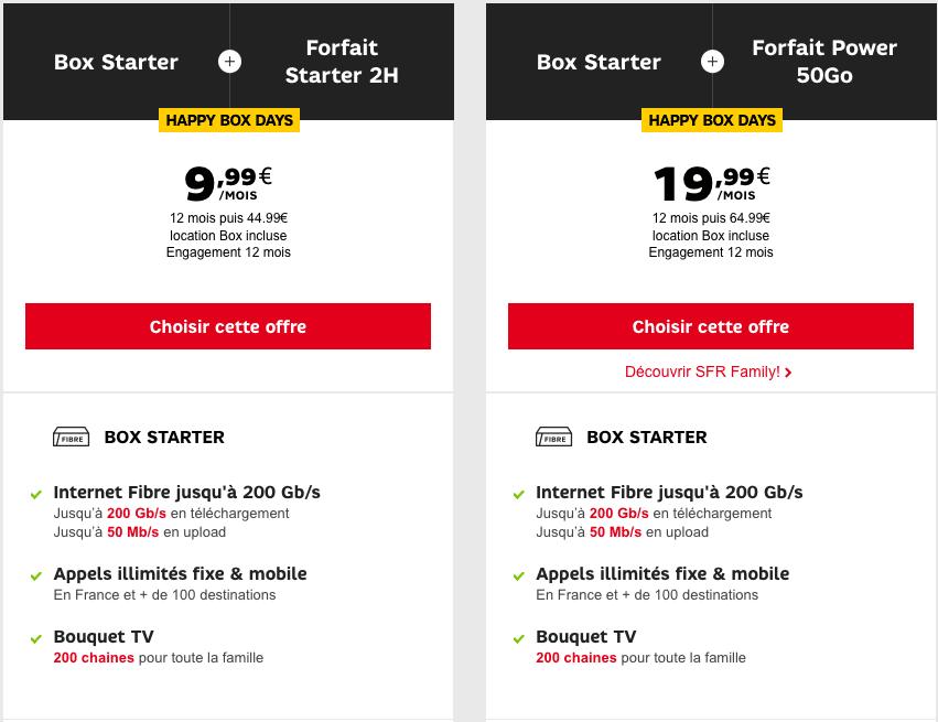 Abonnement internet et forfait SFR