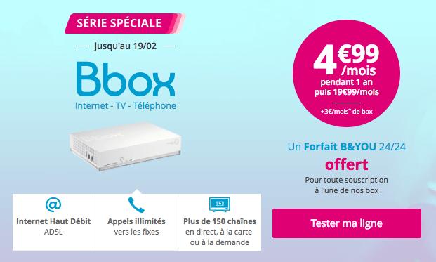 L'offre ADSL de Bouygues Télécom.