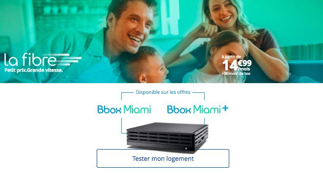La fibre optique avec la Bbox Miami de Bouygues Télécom.