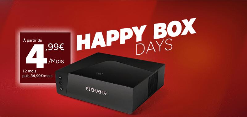 les happy box days de sfr et les promos sur la box starter d s 4 99. Black Bedroom Furniture Sets. Home Design Ideas