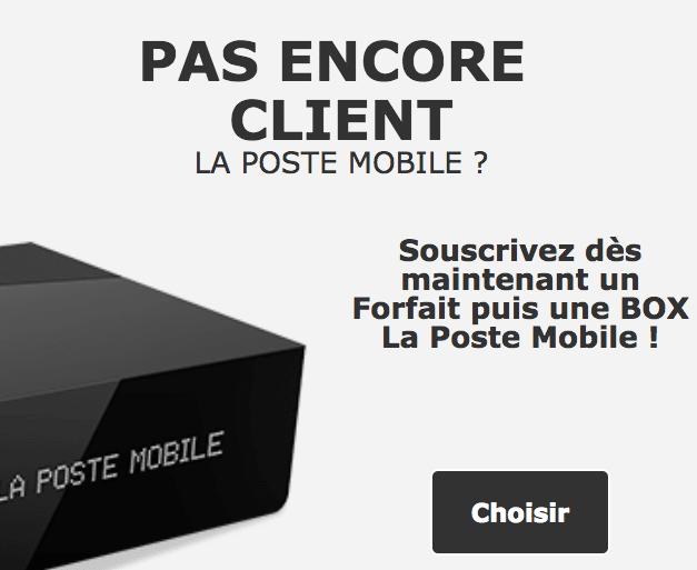 Les service box et mobile de La Poste Mobile.