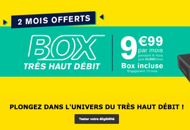 Promotion sur la box internet de La Poste Mobile.