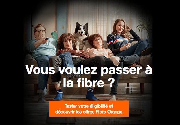 Passer à la fibre optique avec Orange.