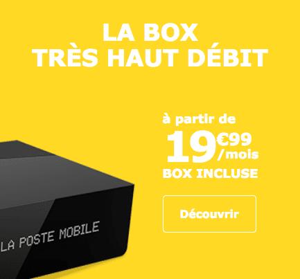 La promotion sur la box internet de La Poste Mobile.