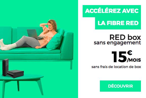 La box internet de RED by SFR à 15 euros par mois en promotion.