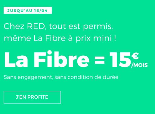 La fibre est à 15€chez RED by SFR.