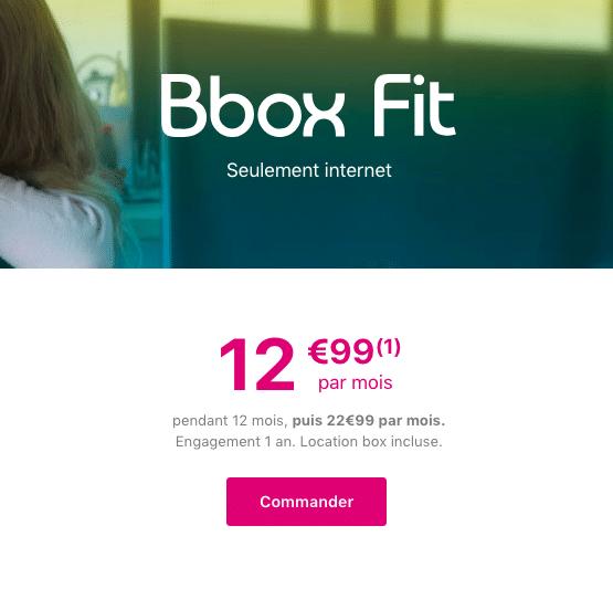 La Bbox Fit de Bouygues Telecom.