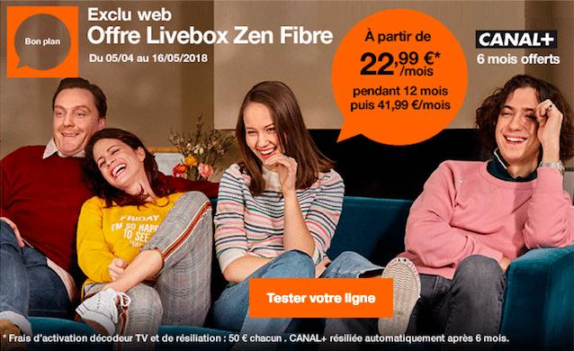 La fibre optique avec Orange dès 22,99€ par mois.