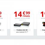 Free : nouveautés et prix cassés avec les box internet (Freebox) dès 9,99€